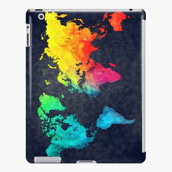 world map watercolor 6 #map #worldmap iPad Snap Case
