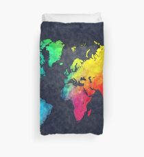 world map watercolor 6 Duvet Cover