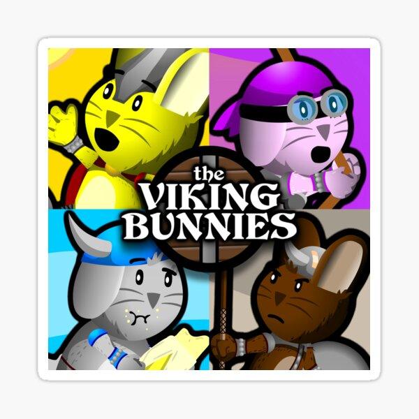 Viking Bunnies Pop Art Sticker