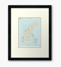 USGS TOPO Map Northern Mariana Islands MP Island Of Saipan 363626 1999 25000 Framed Print