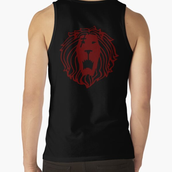 Lost Gods Tiger Growl American Flag Mens Graphic Tank Top