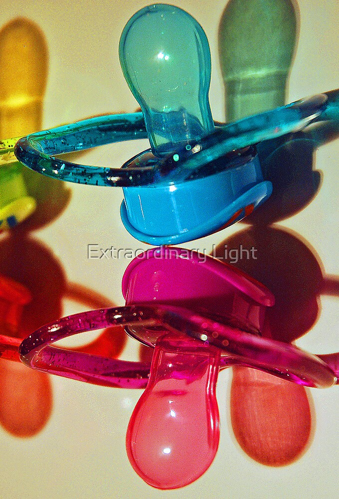 Pink & Blue Pacifiers by Extraordinary Light