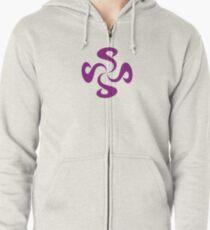 SheeArtworks Spiral Purple - Shee Vector Pattern Zipped Hoodie