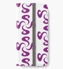 SheeArtworks Spiral Purple - Shee Vector Pattern iPhone Wallet/Case/Skin
