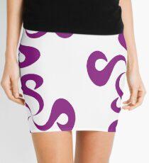 SheeArtworks Spiral Purple - Shee Vector Pattern Mini Skirt