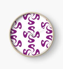 SheeArtworks Spiral Purple - Shee Vector Pattern Clock