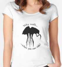 Why walk... Women's Fitted Scoop T-Shirt