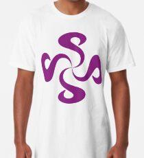 SheeArtworks Spiral Purple - Shee Vector Shape Long T-Shirt