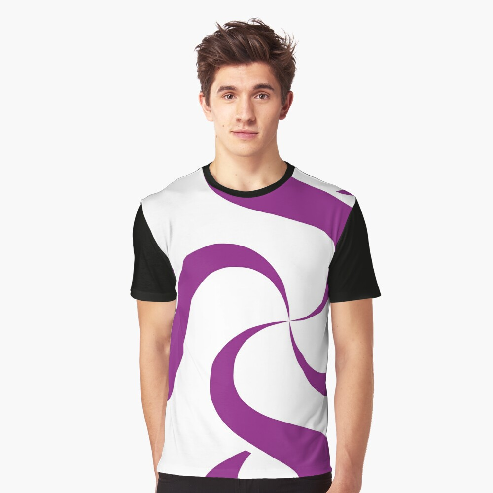 SheeArtworks Spiral Purple - Shee Vector Shape Graphic T-Shirt