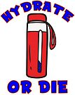 Hydrate Or Die Hiking Water Bottle Hydro Flask Outdoor Nature Explore National Park by MyHandmadeSigns