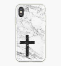 Marble Cross iPhone Case