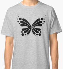 Graphic Butterfly B&W - Shee Vector Pattern Classic T-Shirt