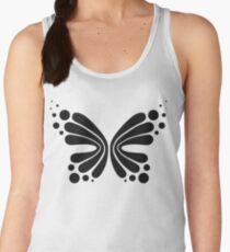 Graphic Butterfly B&W - Shee Vector Pattern Women's Tank Top