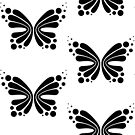 Graphic Butterfly B&W - Shee Vector Pattern by SheeArtworks