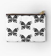 Graphic Butterfly B&W - Shee Vector Pattern Zipper Pouch