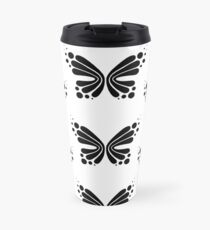 Graphic Butterfly B&W - Shee Vector Pattern Travel Mug
