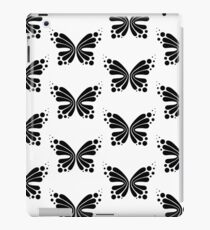 Graphic Butterfly B&W - Shee Vector Pattern iPad Case/Skin