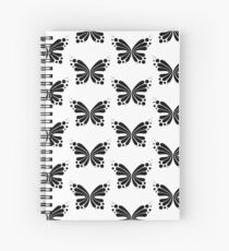Graphic Butterfly B&W - Shee Vector Pattern Spiral Notebook