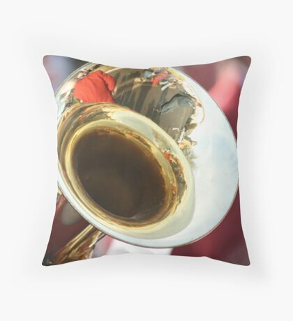 Tuba Reflections Throw Pillow