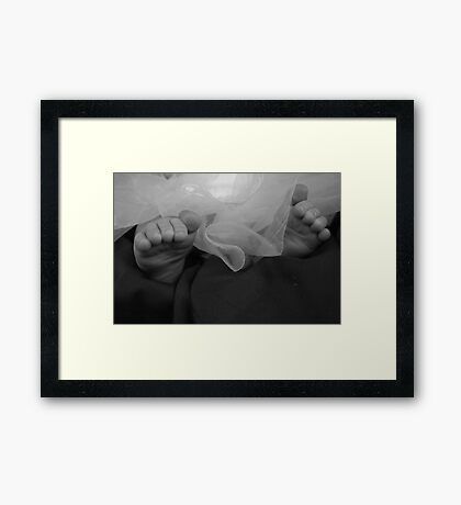 Tulle & Toes Framed Print