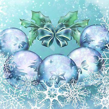 Blue festive baubles by RaionKeiji