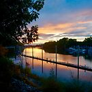 Sunset at the Dock by Barbara  Brown