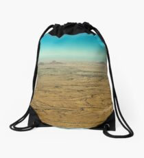 Skyline of dry streams Drawstring Bag