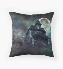 The Haunted House Paranormal Throw Pillow