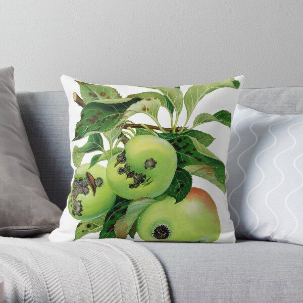 Apple Scab - Venturia inaequalis - (cut-away) Throw Pillow