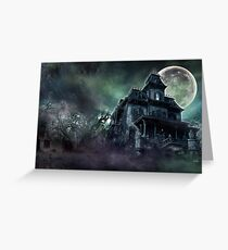 The Haunted House Paranormal Greeting Card