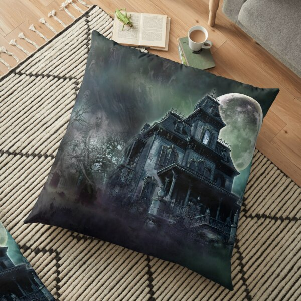 The Haunted House Paranormal Floor Pillow