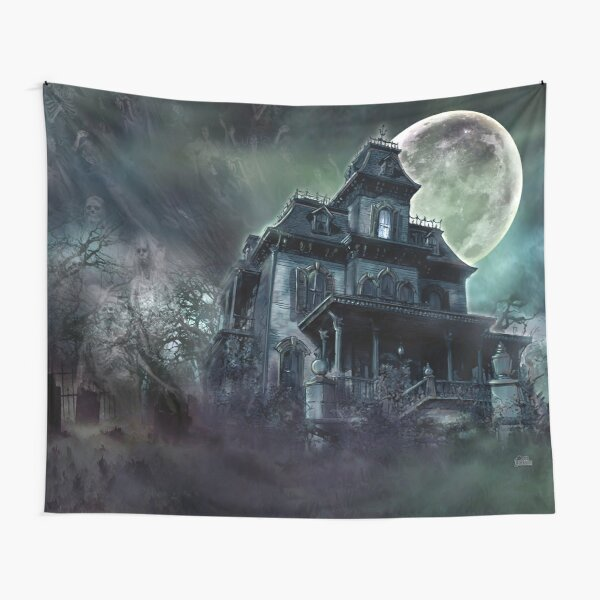The Haunted House Paranormal Tapestry