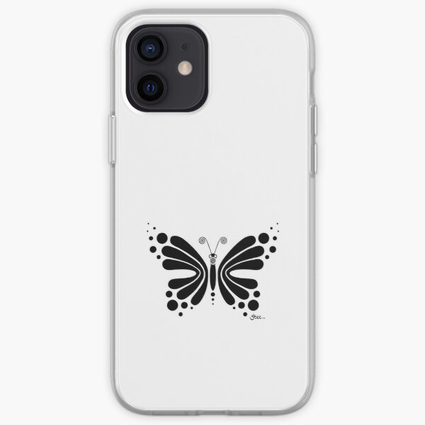 Hypnotic Butterfly B&W - Shee Vector Shape iPhone Soft Case