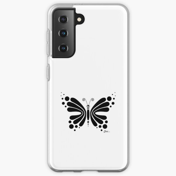 Hypnotic Butterfly B&W - Shee Vector Shape Samsung Galaxy Soft Case