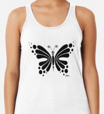 Hypnotic Butterfly B&W - Shee Vector Shape Women's Tank Top