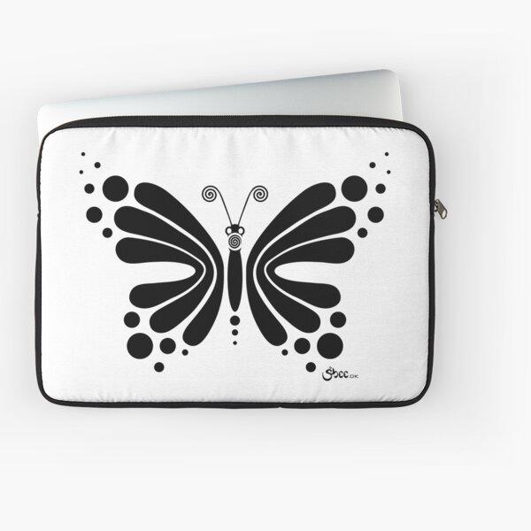 Hypnotic Butterfly B&W - Shee Vector Shape Laptop Sleeve