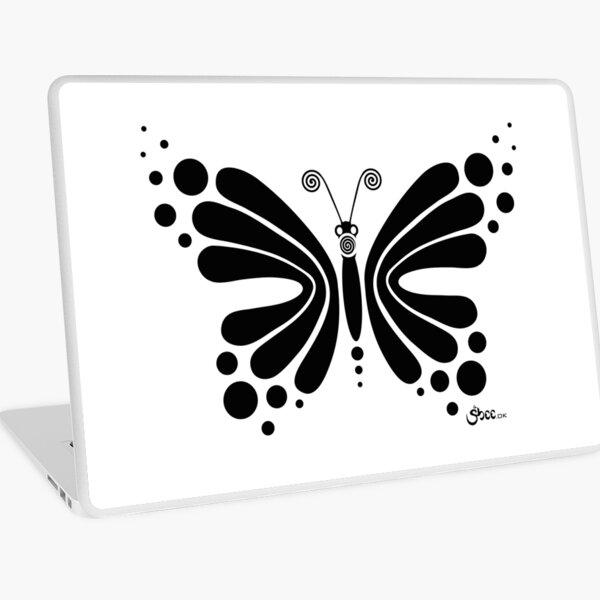 Hypnotic Butterfly B&W - Shee Vector Shape Laptop Skin