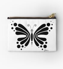 Hypnotic Butterfly B&W - Shee Vector Shape Studio Pouch