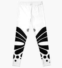 Hypnotic Butterfly B&W - Shee Vector Shape Leggings