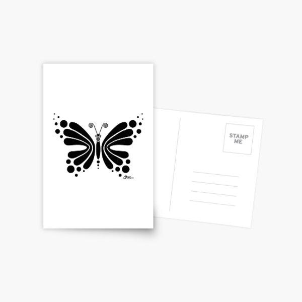 Hypnotic Butterfly B&W - Shee Vector Shape Postcard
