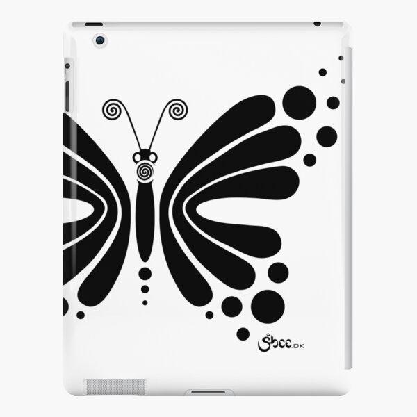 Hypnotic Butterfly B&W - Shee Vector Shape iPad Snap Case