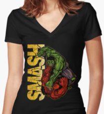Smash Women's Fitted V-Neck T-Shirt