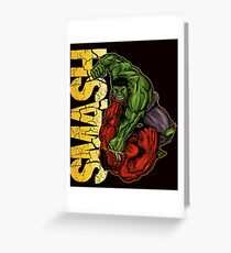 Smash Greeting Card