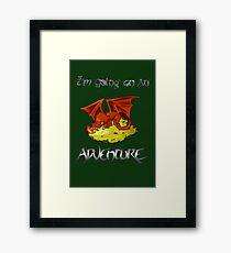 Adventure Smaug Couples Tee Framed Print
