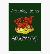 Adventure Smaug Couples Tee Photographic Print