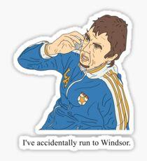 Super Hans   Accidentally run to Windsor  Sticker