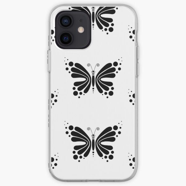 Hypnotic Butterfly B&W - Shee Vector Pattern iPhone Soft Case