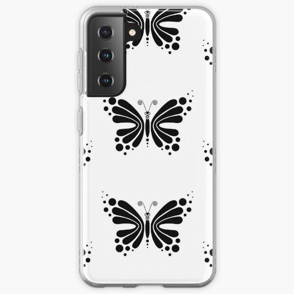 Hypnotic Butterfly B&W - Shee Vector Pattern Samsung Galaxy Soft Case