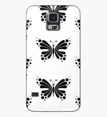 Hypnotic Butterfly B&W - Shee Vector Pattern Case/Skin for Samsung Galaxy