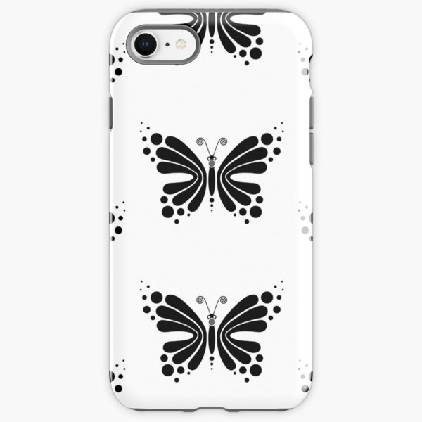 Hypnotic Butterfly B&W - Shee Vector Pattern iPhone Tough Case